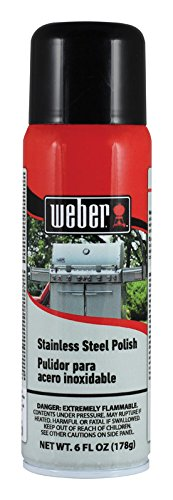 Clean Stainless Steel Bbq - Weber 1 Degreaser Spray Can-6 Ounce Stainless Steel Polish Exterior BBQ Grill Cleaner and Degr, 6 oz