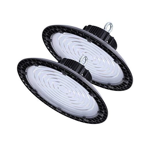 (200 Watt UFO High Bay LED Lights, 26800 Lumens, 800W HPS or MH Bulbs Equivalent, 5000K Bright White, Industrial Highbay Light, Warehouse Light Fixtures, AC 90-277V 2Pack)