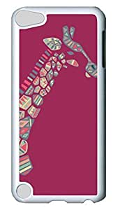 Brian114 Case, iPod Touch 5 Case, iPod Touch 5th Case Cover, Cute Animals Giraffe 20 Retro Protective Hard PC Back Case for iPod Touch 5 ( white )