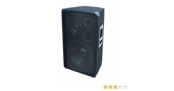 Altavoz de triple v/ía 800 W, 1 unidad color negro Omnitronic TMX-1230