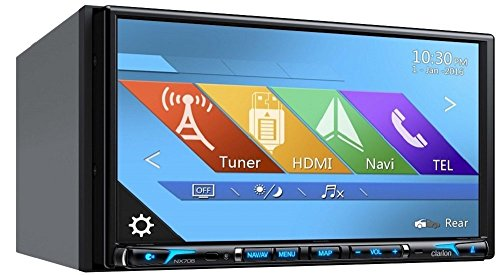 Clarion NX706 2-DIN DVD Multimedia Station with Built-In Navigation, 7″ Touch Panel Control