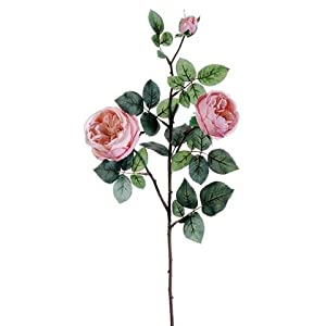 "Afloral Silk Cabbage Rose Spray in Light Pink - 29"" Tall 78"