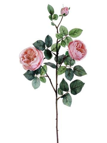 """Afloral Silk Cabbage Rose Spray in Light Pink - 29"""" for sale  Delivered anywhere in USA"""