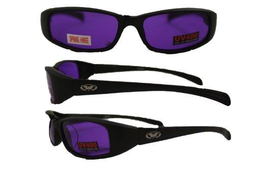 NEW ATTITUDES - Stylish Sunglasses - PURPLE Lenses, GLOSS Black - Attitude Glasses Frames