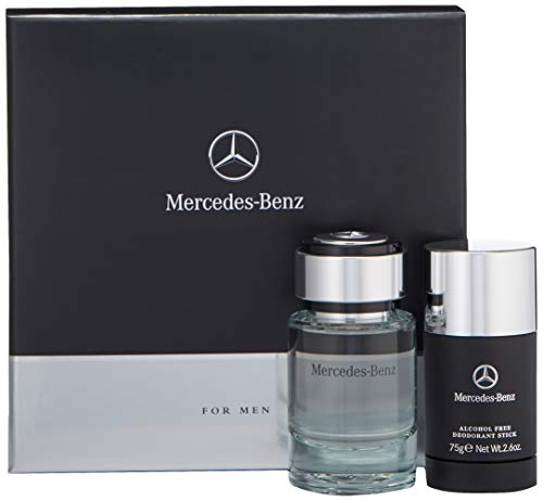 (Mercedes Benz | Eau de Toilette and Deodorant Stick | 2 Piece Gift Set for Men | Woody Spicy Scent | EDT Spray 2.5 oz / Deodorant Stick - 2.6 oz)