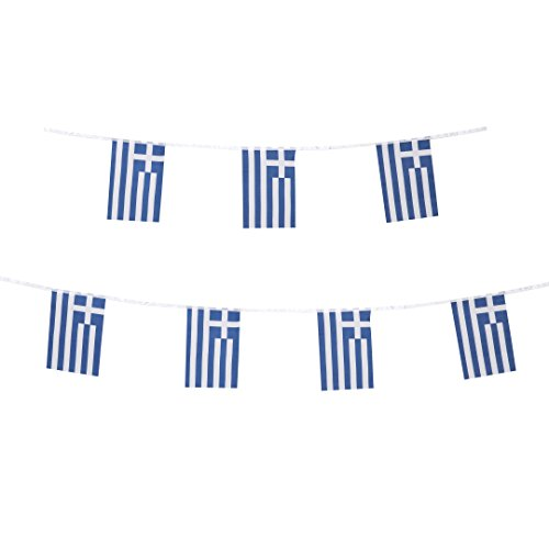 TSMD 100 Feet Greece Flag Greek Flag National Country World Flags,Party Decorations for Olympics,Bar,World Cup,Sports Event,School Event,European Cup,International Festival Events ()