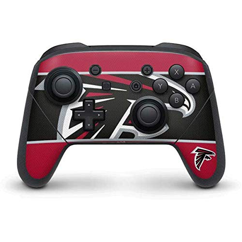 Skinit Atlanta Falcons Zone Block Nintendo Switch Pro Controller Skin - Officially Licensed NFL Gaming Decal - Ultra Thin, Lightweight Vinyl Decal Protection