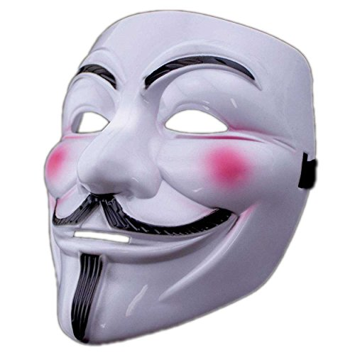 Adorox V for Vendetta White Costume Face Mask Anonymous Guy Fawkes