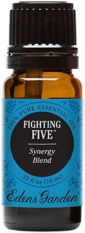 Edens Garden Fighting Five 10 ml Pure Therapeutic Grade Essential Oil Synergy Blend GC/MS Tested CPTG