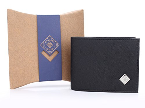 Gallery Seven RFID Blocking Wallet, Faux Leather Wallet Men, Vegan Leather, Bifold Slim Wallet, Enclosed In An Elegant Gift Box - Black/Brown - One Size by Gallery Seven (Image #2)
