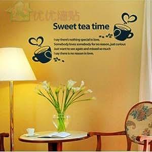 K-DECOR Wall stickers Home decor PVC Vinyl paster Removable Art MuralSweet tea timeK-25