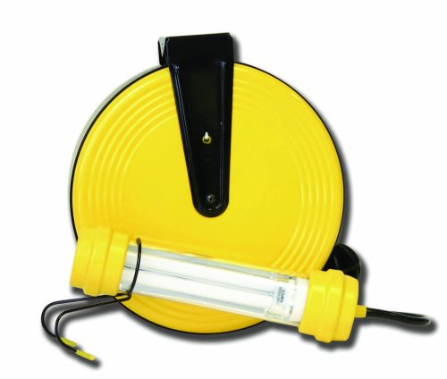 Bayco SL-827 OSHA 13-Watt Fluorescent Work Light on 50-Foot Metal Reel
