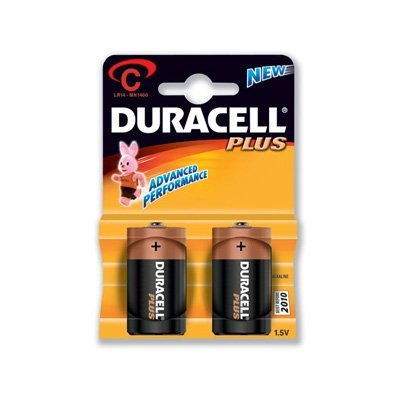 Duracell 21401 - C Cell Battery 2 Pack (MN1400B2)