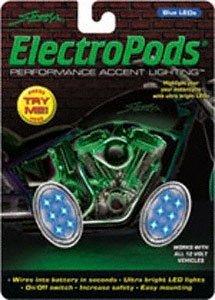 STREET FX 12V ELECTROPODS OVAL LIGHT PODS BLUE/CHROME (Street Fx Electropods Light)