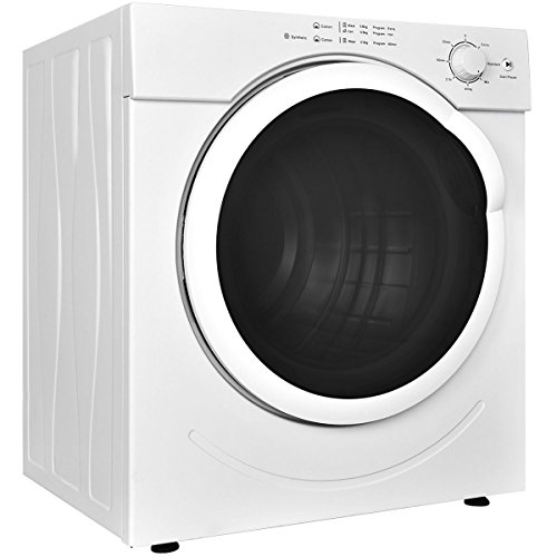 Price comparison product image Costway Electric Tumble Dryer Clothes Laundry Dryer Compact Stainless Steel 26lb. Capacity/3.21 Cu.Ft. w/ Timer Control
