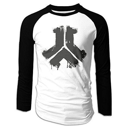 Creamfly Mens Defqon Logo Long Sleeve Raglan Baseball Tshirt - Q Fashion Locations
