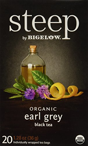 (Bigelow Organic Earl Grey Black Tea 20 Count Organic Caffeinated Individual Black Tea Bags, for Hot Tea or Iced Tea, Drink Plain or Sweetened with Honey or Sugar)