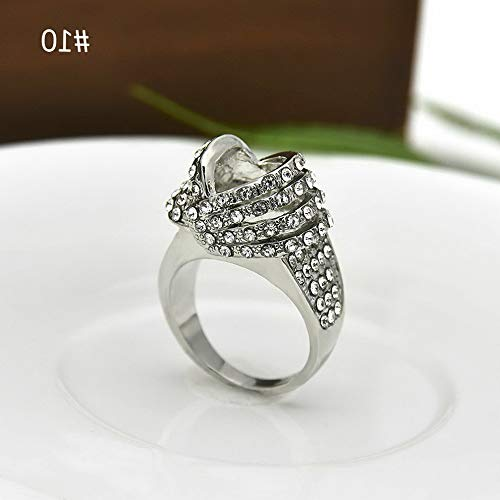 Crookston Vintage Women Jewelry 925 Silver White Sapphire Ring Wedding Bridal Gift Sz 5-11 | Model RNG - 2841 | 7 (Triple Hook Spinning)