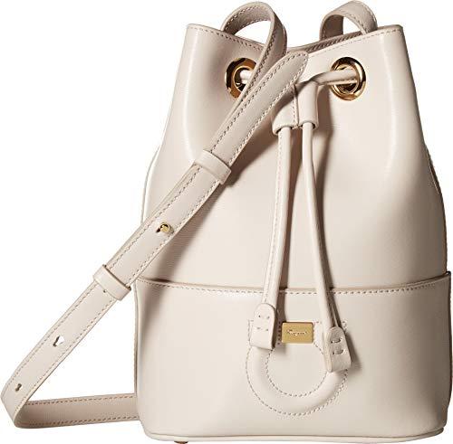 (Salvatore Ferragamo Women's City Bucket Bag, Jasmine Flower, Off White, One Size)