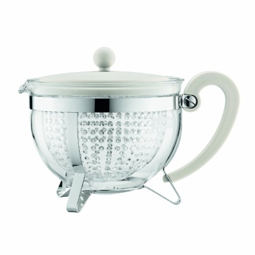 Bodum Chambord Tea Pot, 1.3-Liter, 44-Ounce, Off-White