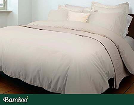QE Home- Bamboo-Blend 1pc Duvet Cover - White | Double