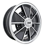 PREMIUM BRM WHEEL, Black With Polished Lip, 17x7'', 5 On 205mm VW