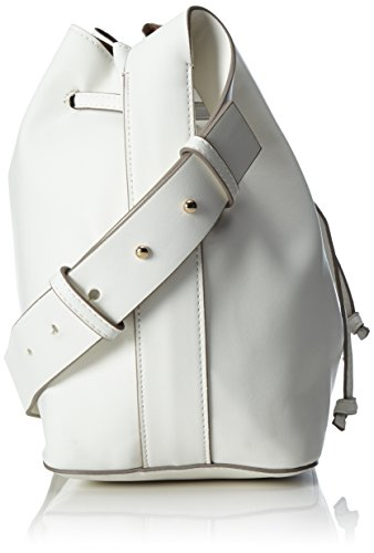 French Connection Chelsea Bucket Bag, Borsa a spalla Donna Weiß (White/Utility Blue)
