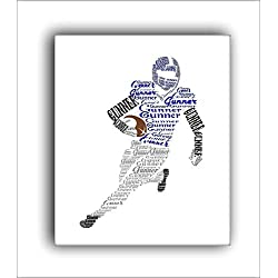 Personalized Football Player Gift, Boys Football Room Decor, 8x10 or 11x14 Print, Sports Nursery Decor