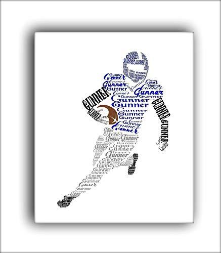 Personalized Football Player Gift, Boys Football Room Decor, 8x10 or 11x14 Print, Sports Nursery Decor