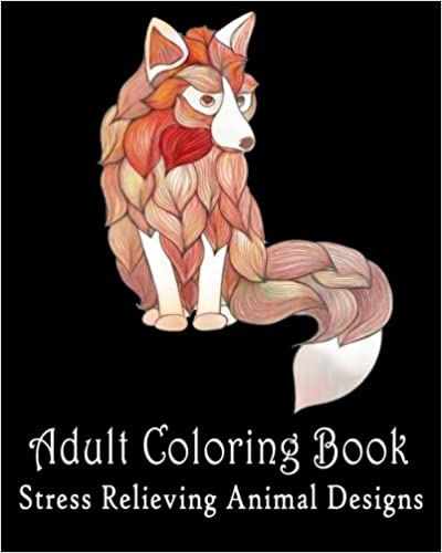 Adult coloring pages : Stress Relieving Animal Designs: Coloring For Relax