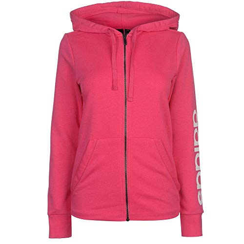 Adidas Linéaire Full Femmes Zip Real Hooded blanc Hooded Magenta Essentials Cap aaO4wqr