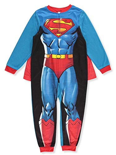 Komar Kids Boy's Superman Caped Costume Fleece Pajama Sleeper (Small -