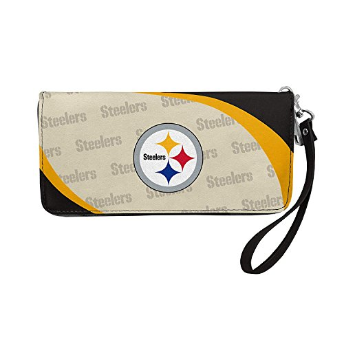 NFL Pittsburgh Steelers Curve Zip Organizer Wallet]()