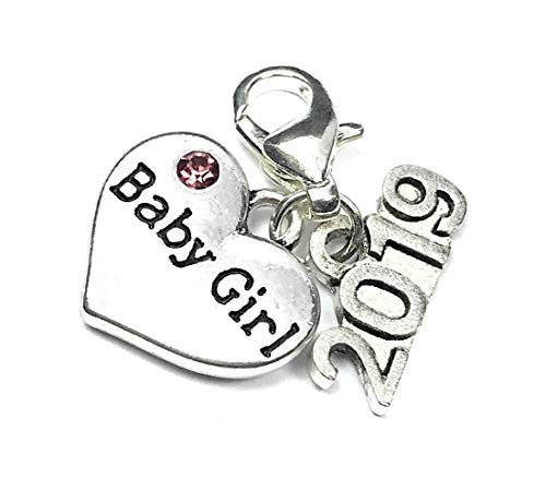 Baby Girl 2019 Clip on Charm with Gift Box and a Gift Card Handmade by Libbys Market Place