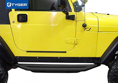 Tyger Auto TG-JA2J2231B Side Step Armor Textured Black Nerf Bars Fit 87-06 Jeep Wrangler YJ/TJ (Exclude 04-06 Unlimited)