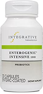 Integrative Therapeutics - Enterogenic Intensive 100 - 100 Billion CFU High-Potency Probiotic - Multiple Strains for Digestive Support - 30 Capsules