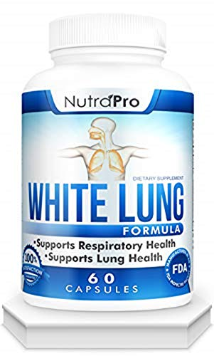 White Lung by NutraPro - Lung Cleanse & Detox. Supports Respiratory Health. 60 Capsule - Made in GMP Certified Facility. from NutraPro