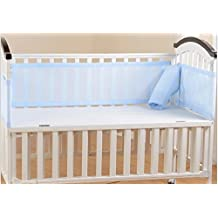 Breathable Mesh Crib Liner, Blue