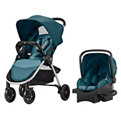 "The Evenflo Folio Travel System featuring the LiteMax Infant Car Seat is fully featured to meet all your parenting needs. It includes full-size luxury that is sleek and stylish for the modern parent. This unique stroller has ""N"" accordion sty..."