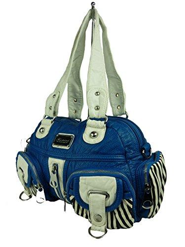 Kumixi Bolso bandolera, negro (Negro) - TP1410 azul