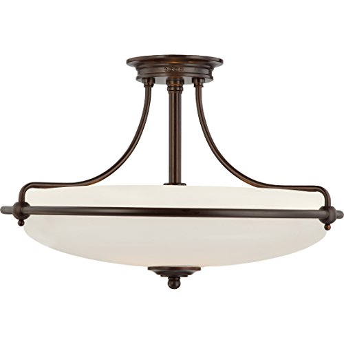 "Quoizel GF1721PN Griffin Semi-Flush Ceiling Lighting, 4-Light, 400 Watts, Palladian Bronze (14"" H x 21"" W) from Quoizel"