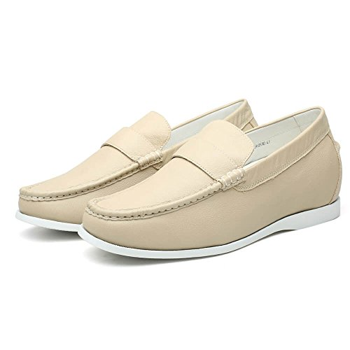 white Men Shoes Enhanced for Casual 6 Plat Loafers Creamy Driving CHAMARIPA cm H81C19K181D qRTBx