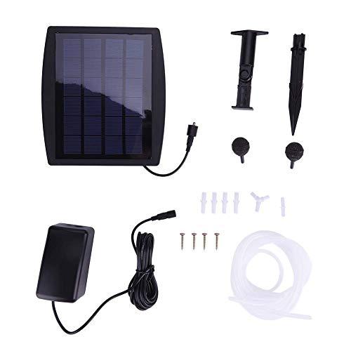 Yosoo Solar Powered Aerator Air Pump Oxygen LED Outdoor Pool Pond Fish Tanks Adjustable Oxygen Pump Pond Aerator