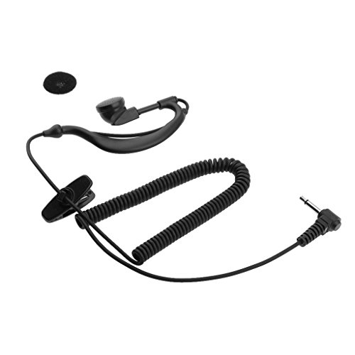 MonkeyJack G Shape Soft Ear Hook Earpiece Headset 3.5mm Plug Ear Hook Listen Radio Earpiece/headset Receiver/ Listen Only Earpiece for 2-way Radio ()