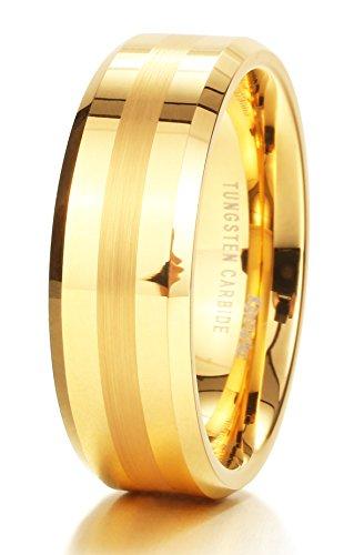 8mm Mens Gold Band - 4