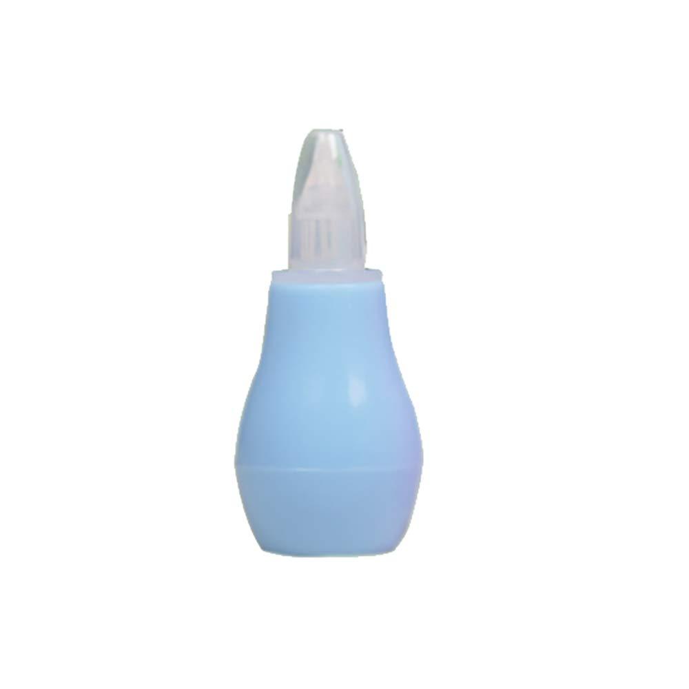 Aspirador nasal para bebés Limpiador nasal de silicona Segura Snot higiénico Lechón y Succión aspirante Booger Sucker para Recién nacidos y niños pequeños (azul) 1 PC Beito