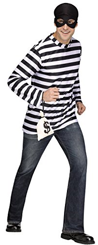Fun World - Plus Size Burglar Costume
