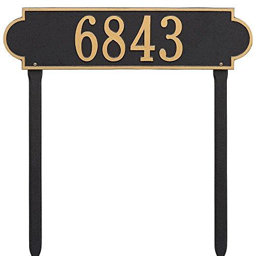 (Custom Richmond ESTATE LAWN Address Plaque 25