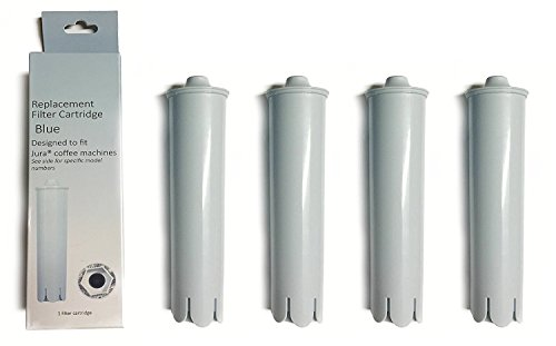 Filter Replacement Compatible with Jura Capresso Coffee Maker Claris Water 71445 Clearyl Blue By Nispira, 4 Filters