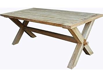 Amazon De Teak Tisch Recycled Teakholz Natur
